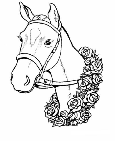 cavalli da colorare e stampare