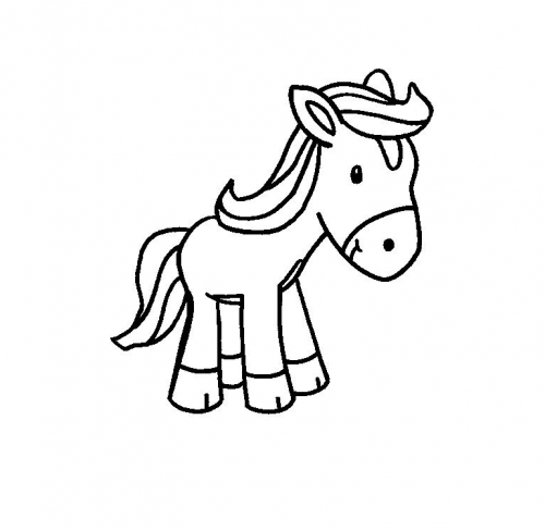 cavalli da colorare per bambini