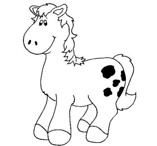 cavallo da colorare per bambini