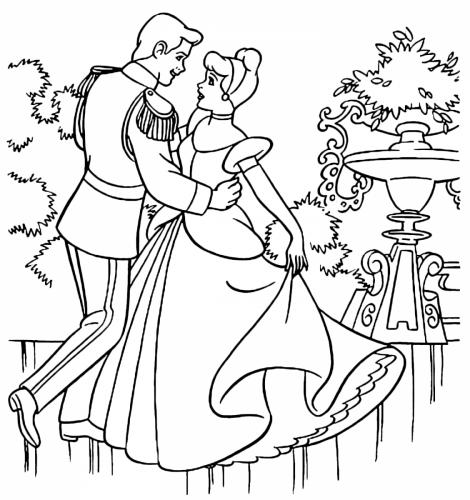 Cenerentola balla con il principe