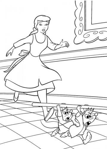 Cenerentola corre dietro a giac e gas, i due topolini