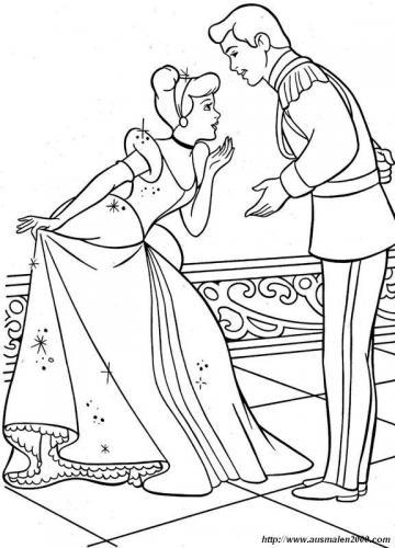 Il principe incontra Cenerentola al ballo