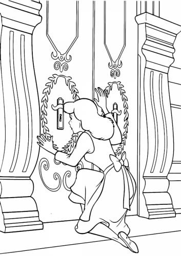 Cenerentola guarda dal buco della serratura