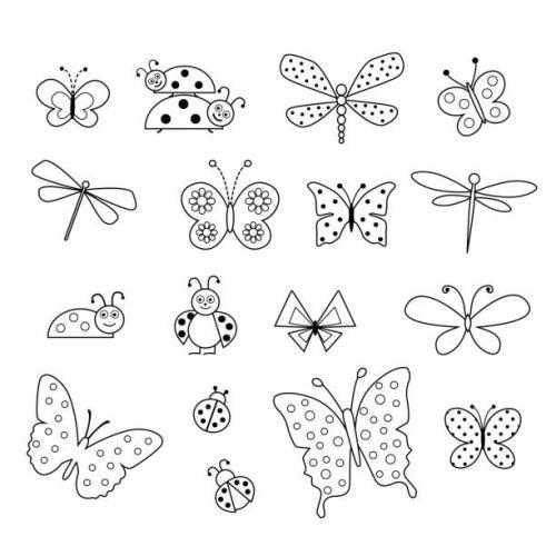 coccinelle e farfalle da colorare