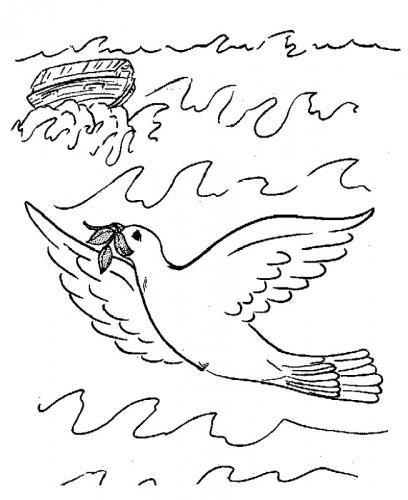 colomba della pace da colorare