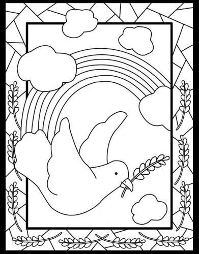 colomba della pace con spighe