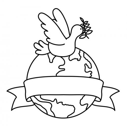 colomba sopra il mondo