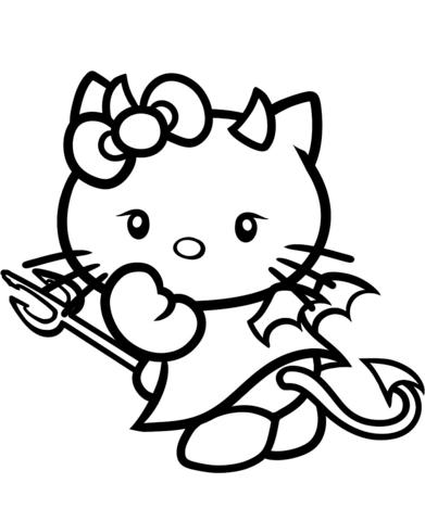 colora hello kitty