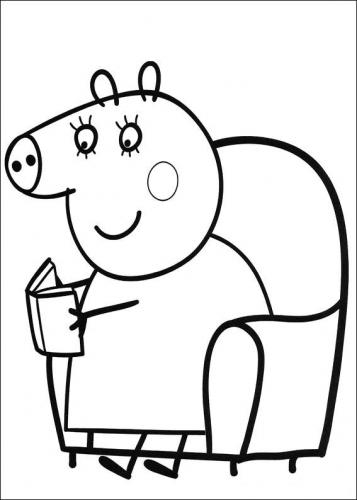 colora peppa pig