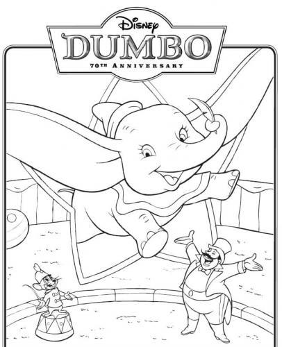 colorare Dumbo circo