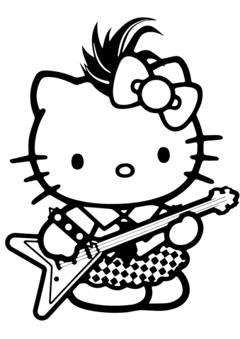 colorare hello kitty on line
