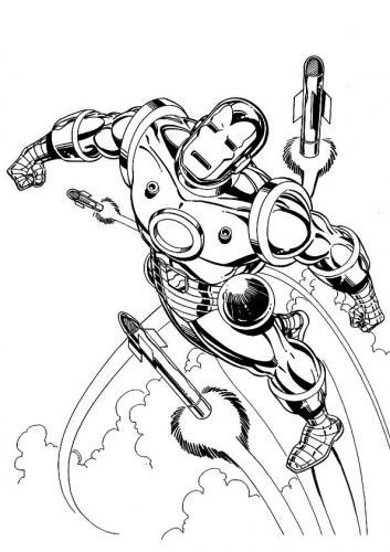 colorare Iron Man