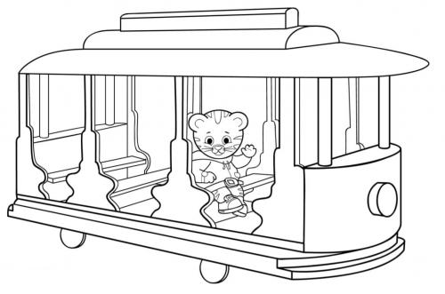 colorare on line tigre Daniel Tiger