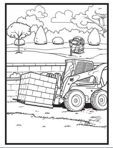 trattore da colorare