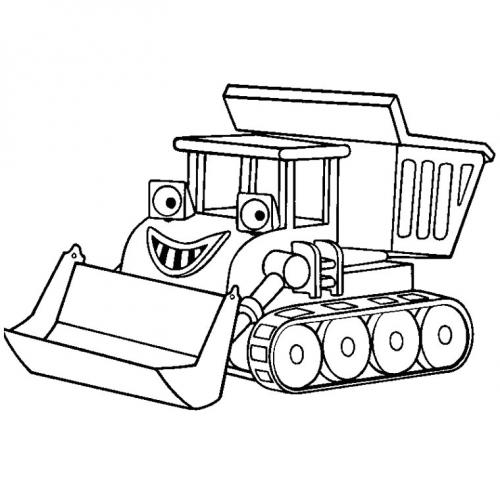cartone animato trattore