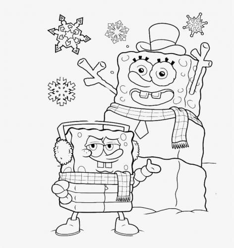 Spongebob fa un pupazzo di neve