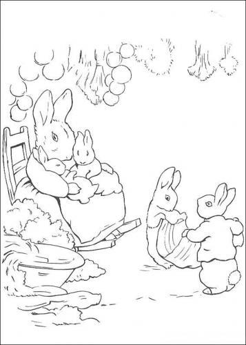 Coniglietti da colorare e ritagliare