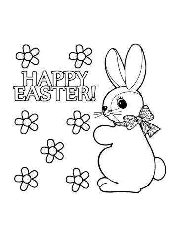 Coniglietti di Pasqua da colorare