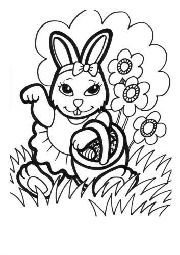 Coniglietti pasquali da colorare