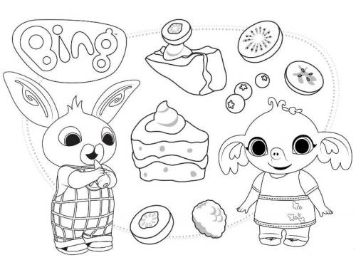 coniglietto bing da colorare