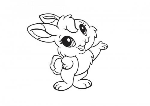 Coniglietto da colorare