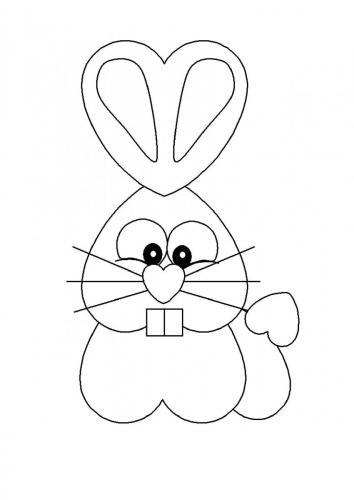 Coniglietto disegno da colorare