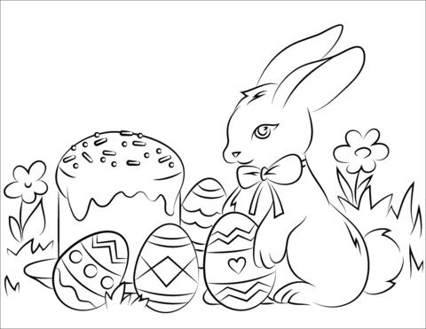 coniglio di pasqua disegno
