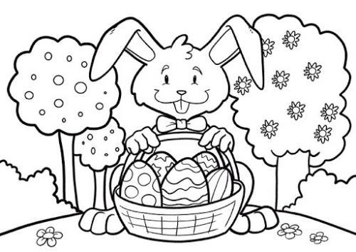 coniglio disegno da colorare