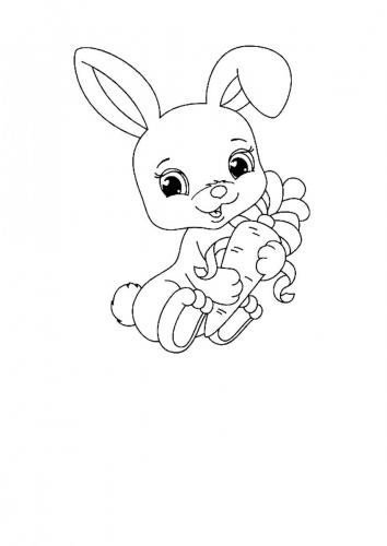 Coniglio disegno per bambini