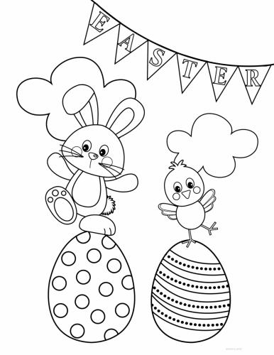 coniglio e pulcino pasquale