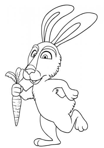 Coniglio di Masha e Orso con la carota