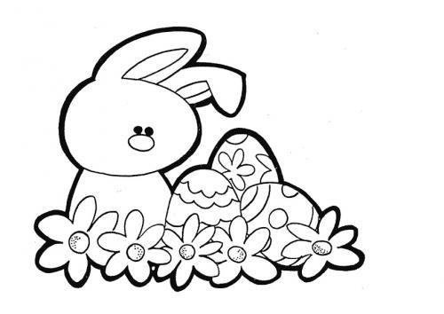Coniglio pasquale da colorare