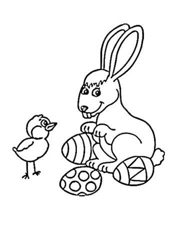 Coniglio pasquale disegno