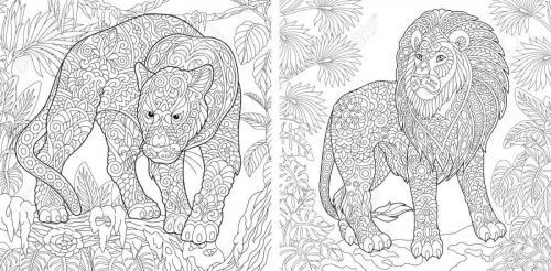 coppia leoni stilizzati