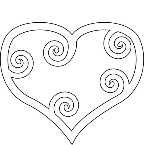 cuore da stampare
