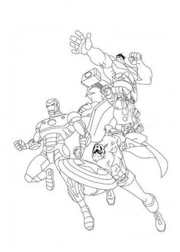 da colorare Avengers