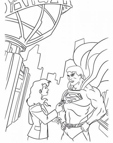 da colorare Superman