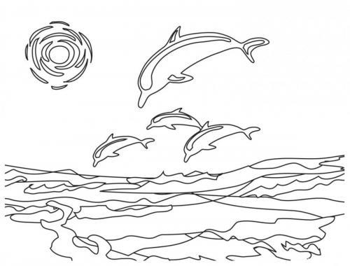 delfini stilizzati