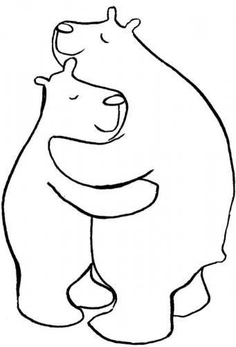 orsi che si abbracciano