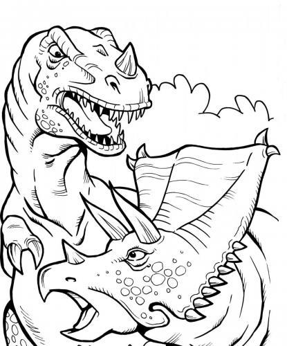 dinosauri che combattono