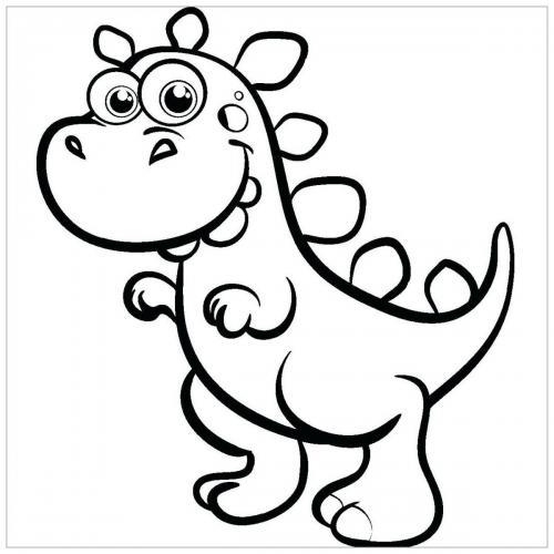 dinosauri da colorare e ritagliare