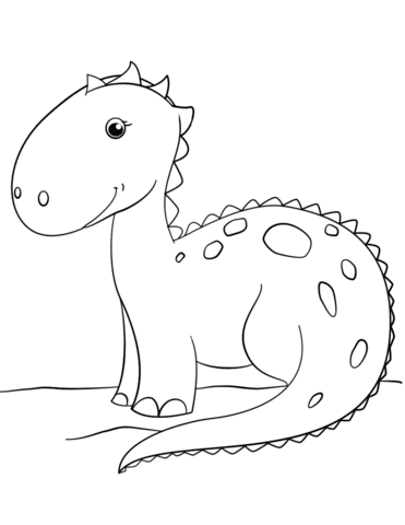 dinosauri da colorare per bambini