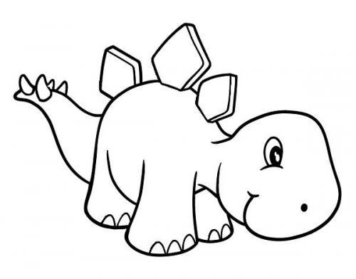 dinosauri da disegnare e colorare