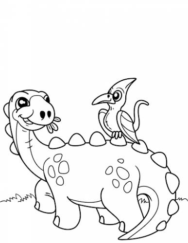 dinosauri erbivori da colorare