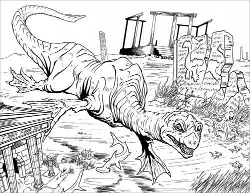 dinosauri immagini da colorare