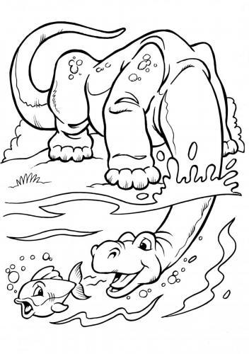 dinosauri marini da colorare