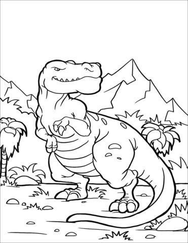 dinosauri t rex da colorare