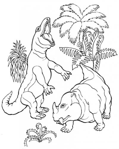 dinosauro da colorare