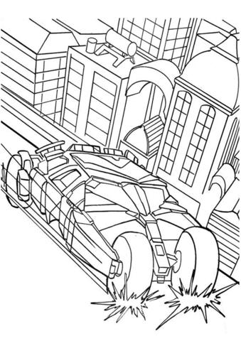disegnare batmobile