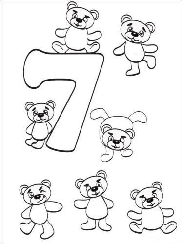 disegnare con i numeri 7